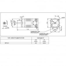 Высокомоментный электродвигатель постоянного тока 3МТА-С