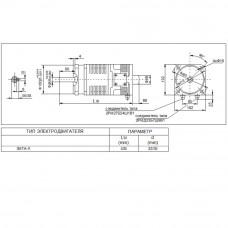 Высокомоментный электродвигатель постоянного тока 3МТА-К