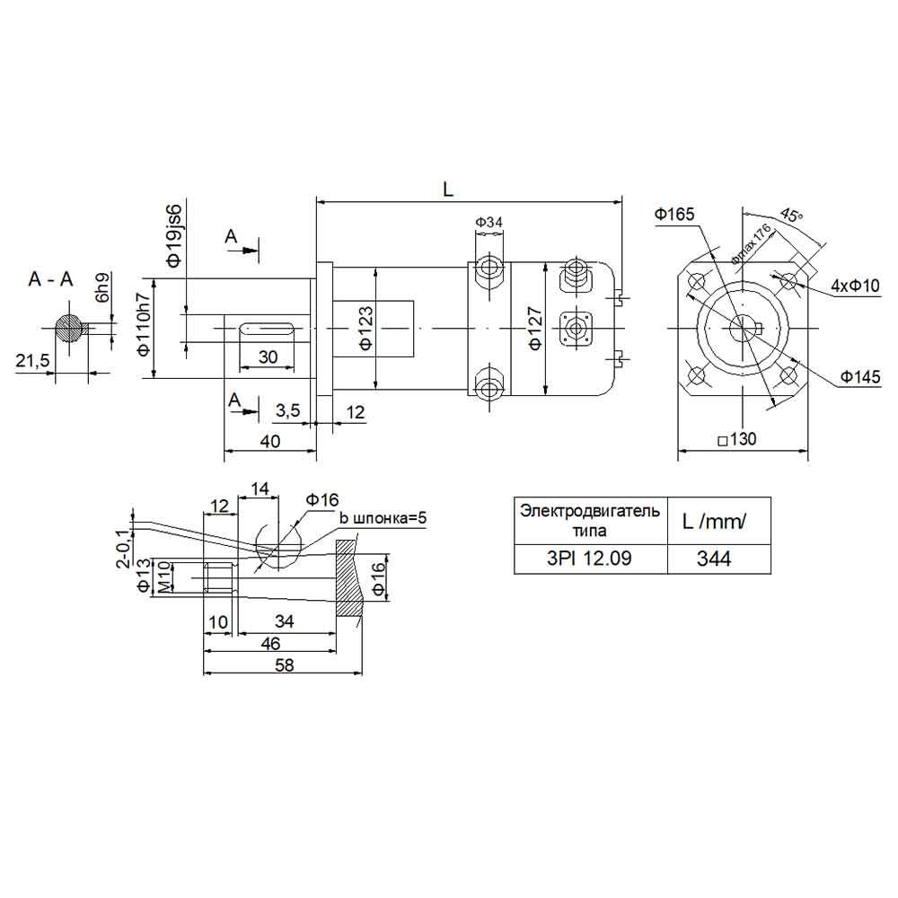 DC servomotor 3PI12.09 foto  1