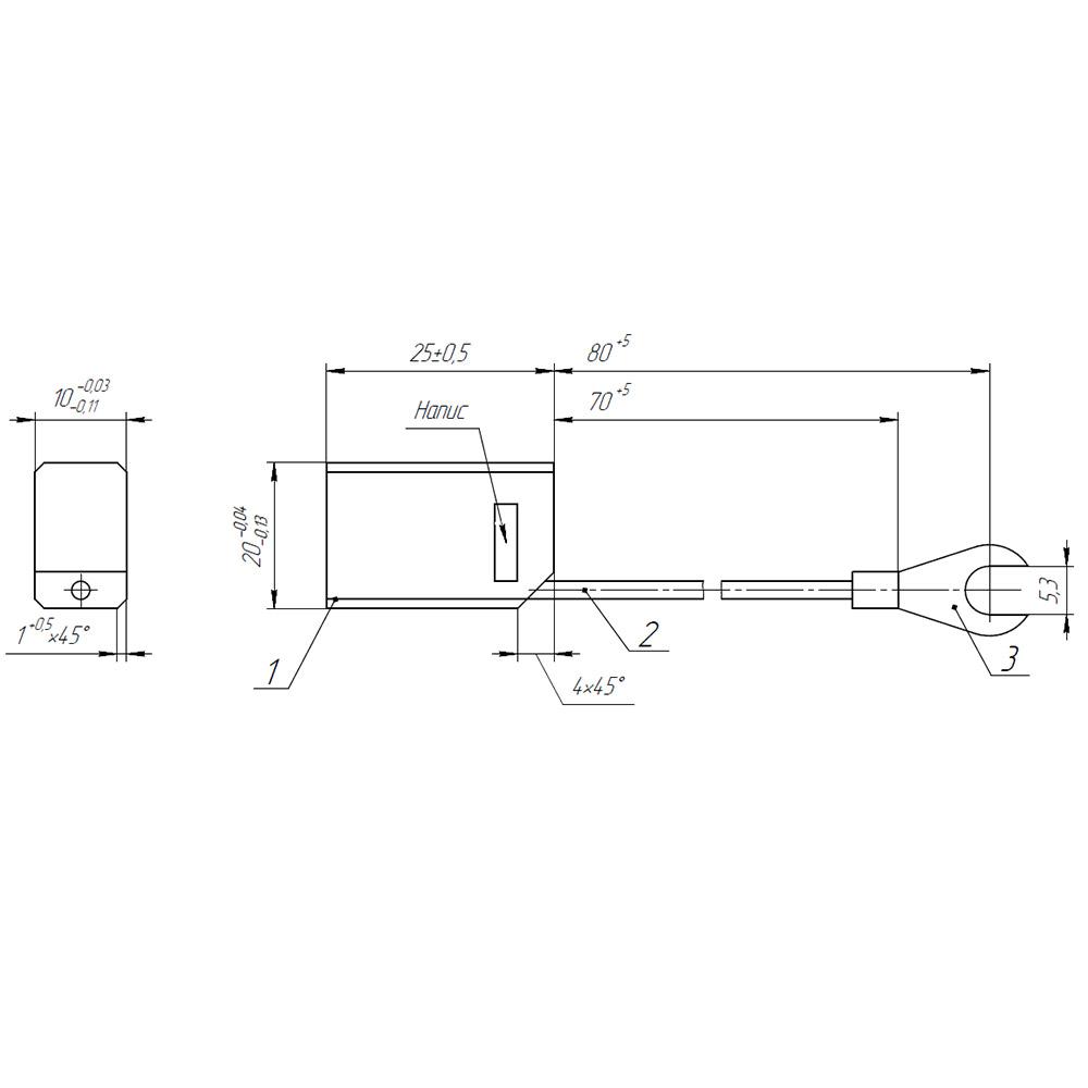 Електрографітна щітка ЕГ14 10x20x25 K4-2 фото  1