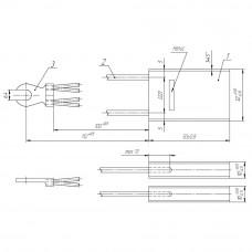 Електрографітна щітка ЕГ2А 2/10x32x50/ К1-8