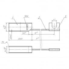 Меднографитовая щетка МГ 6.4x8x22 К4-2