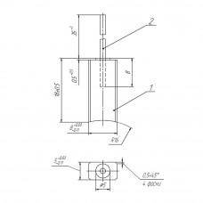 Меднографитовая щетка МГ4 5x8x16 К14-1