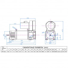 Електродвигун постійного струму МР132LC
