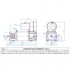 Електродвигун постійного струму МР160LC